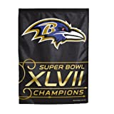 NFL Baltimore Ravens Super Bowl XLVII Champions Garden Flag