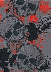 Multifunction Neckwarmer, Snood, Hat, Scarf and Hood in Grey skull print by Monogram