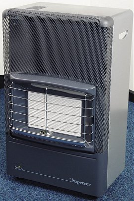Superser Silver/Grey Mobile Gas Heater