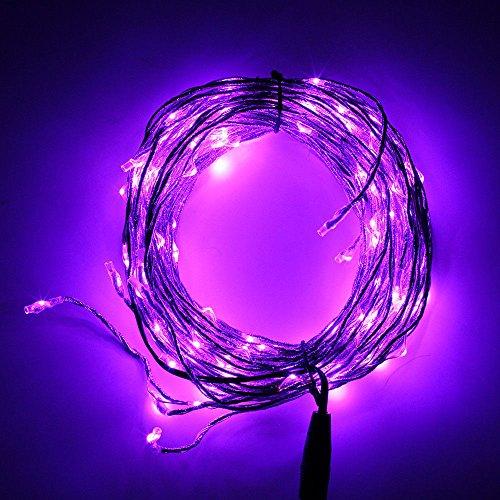 Ljy Copper Wire 180-Led Purple Light Vine String Lights Strip Tree Wedding Xmas Party Fairy Decoration