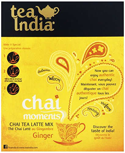 Tea India Chai Moments, Ginger, 10 Count (Pack Of 6)