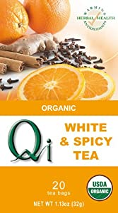 Qi Organic Spicy White Tea 20-tea Bags 113-ounce Pack Of 6 by Qi