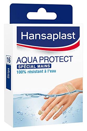 Hansaplast-Set di 16 cerotti Aqua Protect per mani, 4 taglie
