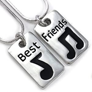 Amazon com eighth note music note best friends forever bff necklace