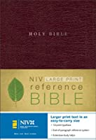 NIV Large Print Reference Bible, Personal Size, Thumb Indexed (Burgundy Bonded Leather)