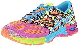 ASICS Gel Noosa Tri 10 GS Triathlon Shoe (Little Kid/Big Kid), Flash Coral/Turquoise/Pink Glow, 1 M US Little Kid