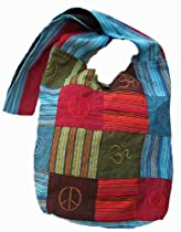Peace, Om and Infinity Symbol Sling Bag Purse Handbag