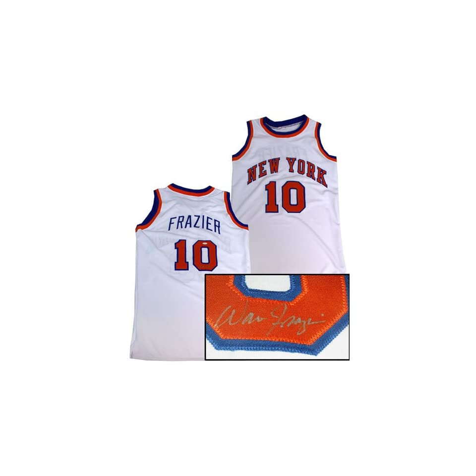 info for 3aab1 13510 Walt Frazier Signed White New York Knicks Jersey on PopScreen