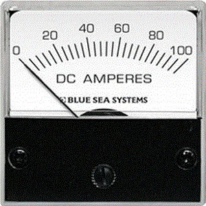 """Blue Sea Systems 8250 2"""" Face Dc Analog Micro Ammeter 0-100 Amperes Dc"""