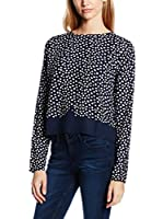 Tom Tailor Denim Blusa (Azul / Blanco)