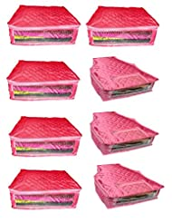 Atorakushon Combo Deal-Multipurpose 5pcs Satin Saree Cover Sari Cover And 3pcs Satin Blouse Cover Dress Protection...