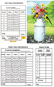 Bridge Tallies - Orioles - (12 Pack) 2 & 3 Table Progessive