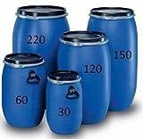 weithalsfass 120 Liter Blau mit Spannverschluss. Neu und...