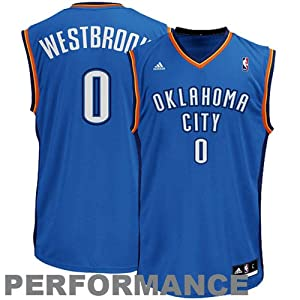 NBA adidas Russell Westbrook Oklahoma City Thunder Revolution 30 Performance Jersey-Royal Blue