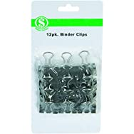 Do it Best GS 10208 Binder Clip - Smart Savers-12CT MED BINDER CLIPS