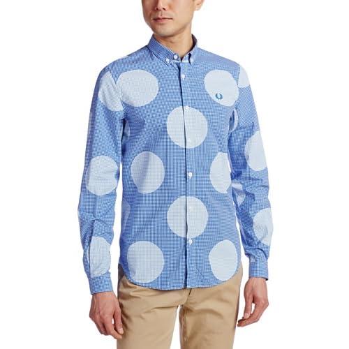 (フレッドペリー)Fred Perry Polka Gingham Ls Shirt M4272 201 201OLYMPIAN M