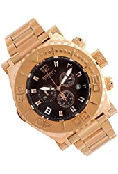 Renato Men's Emporium Chronograph Stainless Rose Gold Brown Dial