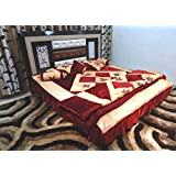 Peponi Maroon Wedding Bedding Set 8 Pcs (Quilt, Double Bed Sheet, 2 Pillow Covers, 2 Filled Cushions, 2 Filled...