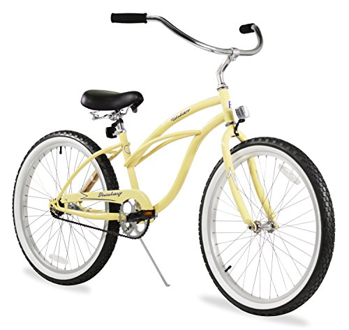 Firmstrong Urban Lady Three Speed Beach Cruiser Bicycle, 15.5X26-Inch, Vanilla front-1027932