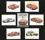 Ferrari Classic Sports Cars 1970s 1980s - 365 GTB/4, Dino 246 GT, 288 GTO, 512 BBi, 308 GTB/GTS, F40 - Collectors Cards