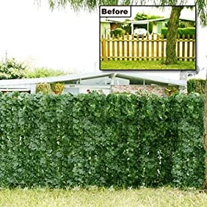 Amazon Com Faux Ivy Privacy Screening Fence Outdoor