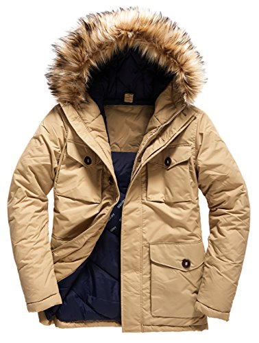 SUPERDRY Military Everest Parka, Giacca Uomo, Sand13K, S