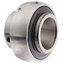 "UC205-16 Axle Insert Mounted Bearing, 1"" Inside Diameter, Set screw lock, Steel, Inch"