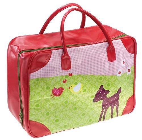 Reisetasche Bambi Kunstleder, Wachstuch, Baumwollfutter