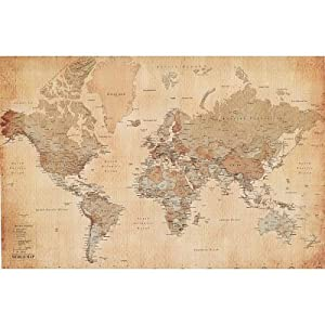 Large wall maps buy vintage world map maps giant poster print 55x39 vintage world map maps giant poster print 55x39 college giant poster print 55x39 gumiabroncs Images