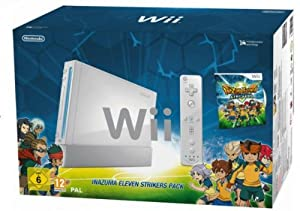 Nintendo Wii - Consola HW + Inazuma Eleven Strikers, Color Blanco