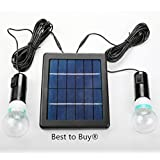 Best to Buy 5W Solar Panel DIY Lighting Kit, Solar Home System Kit, Portable Solar Charger with LED Light Bulb Flashlight as Emergency Light/ Garage Cabin RV Wireless Lighting System/ Camping Trekking Search & Rescue Remote Lighting Kit