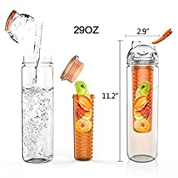 God Gift Fruit Infuser Water Bottle, 700 ml (Color May Vary)