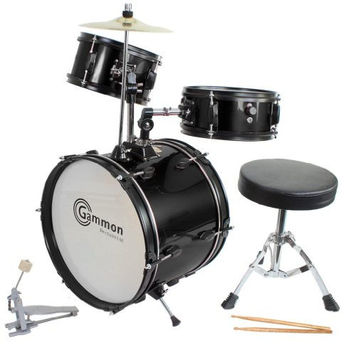 Drum Set Black Complete Junior Kid's Children's Si