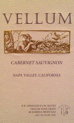 2010 Vellum Cabernet Sauvignon, Napa Valley 750 Ml