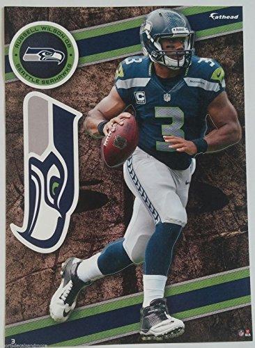 """Russell Wilson 2014 NFL Fathead Tradeables 5"""" x 7"""" Seattle Seahawks - #3"""