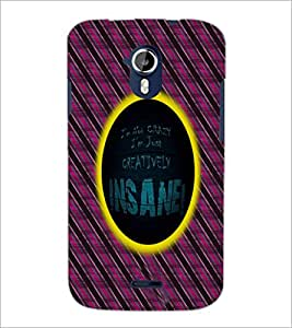 PrintDhaba Quote D-5008 Back Case Cover for MICROMAX A116 CANVAS HD (Multi-Coloured)
