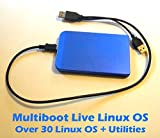 Live Multiboot 60GB USB Hard Drive With Over 30 Linux OS, Software and Utilities
