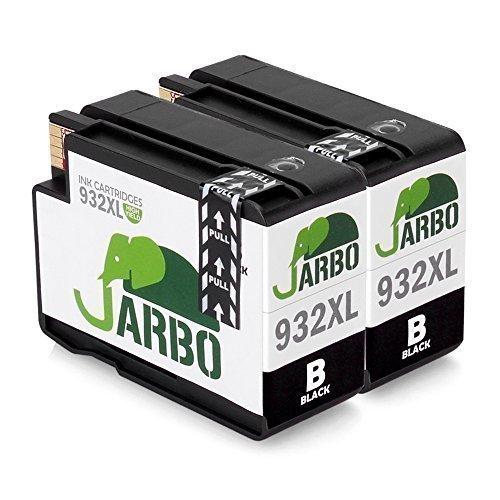 JARBO 2 Schwarz Kompatibel HP 932XL 933XL Tintenpatronen Hohe Kapazität kompatibel zu HP Officejet 6100 6600 6700 7110 7610 7612 Printer