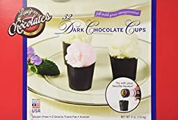 32pc Dark Chocolate Cordial Cups Measuring 28mm x 27mm Certified Kosher