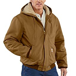 Carhartt Jackets 13 oz. Brown Cotton Duck Quilt Lined Active Jacket FRJ184BRN-3X Large Regular