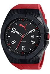 PUMA Men's PU103921001 Iconic S Analog Display Quartz Black Watch