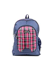 Durable Red Check, Blue Self Check Color School Bag (Large, 17 Inches)