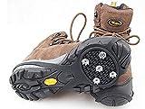 JX-SHOPPU ビジネスシューズにも装着可能 スノー スパイク 簡単・便利!靴に取り付けるだけ 路面 凍結 雪道 の 滑り止めに (Mサイズ)