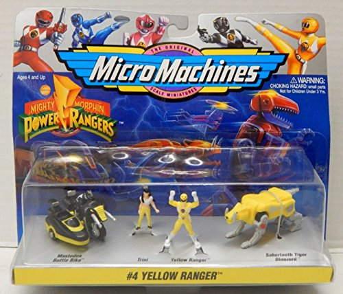 Mighty Morphin Power Rangers Yellow Ranger Micro Machines Collection #4 (Power Ranger Barbie compare prices)