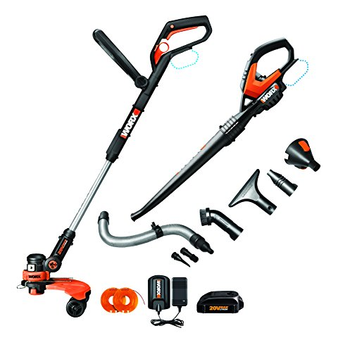 The Worx Wg951.2 Combo Kit Comes With The Worx Wg160 10-Inch Trimmer, The Wg545.1 Worx Air Blower/Sweeper, One Wa3525 20V Battery And Wa3732 Battery Charger