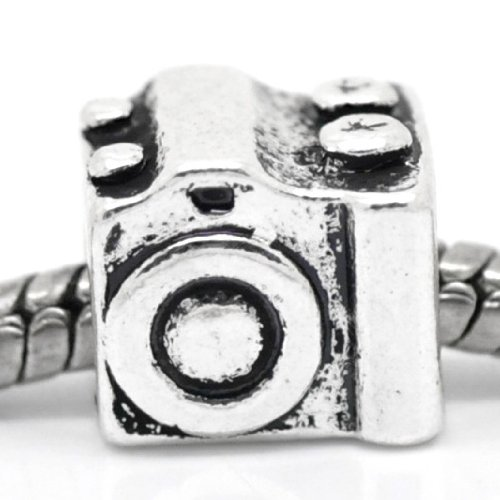 "Pro Jewelry "" Digital Camera "" Antique'd Silver Bead Charm Spacer Pandora Troll Chamilia Biagi Bead Compatible"