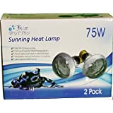 Sunning Heat Lamp 75 Watt 2 Bulb Value Pack For Use With Terrariums And Provided A Basking Lamp Reptiles, Amphibians, Small Animals, Birds, And Farm Animals