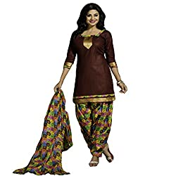 Typify Women's Cotton Unstitched Dress Material (TYPIFY240_Multicolor_Free Size)
