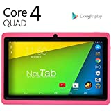 NeuTab® N7 Pro 7'' Quad Core Google Android 4.4 KitKat Tablet PC, HD 1024X600 Display, Bluetooth, Dual Camera, Google Play Pre-loaded, 3D-Game Supported (Pink)