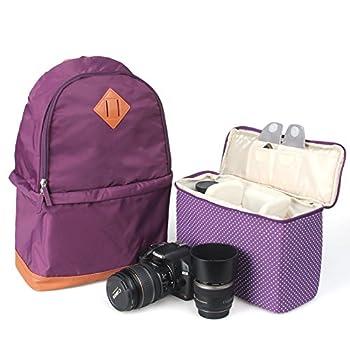 Koolertron Professional Women Nylon Camera Case / Backpack For SLR DSLR Canon Nikon Camera Shoulder Bag Canon 2